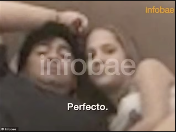 Footage emerges of late Diego Maradona in bed with 16-year-old girl who claims he introduced her to Cocaine after flying her from Cuba to Argentina
