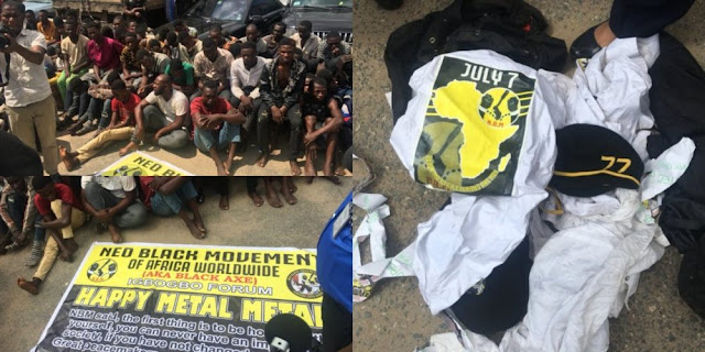 POLICE ARREST 120 AYE CULT MEMBERS AS THEY CEREBRATES ANNIVERSARY OF NBM IN LAGOS (PHOTOS)