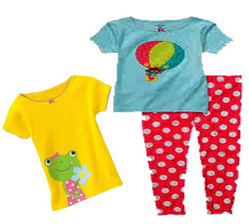 Kids Girls Short Sleeve T-Shirt, Pajama