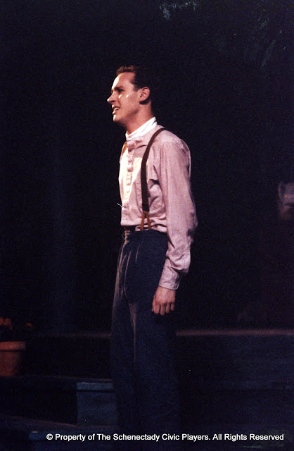 Kevin Miller in LOOK HOMEWARD, ANGEL (R) - March 1994.  Property of The Schenectady Civic Players Theater Archive.