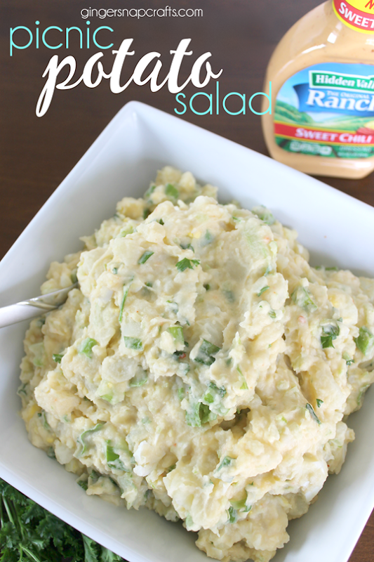 Picnic Potato Salad at GingerSnapCrafts.com