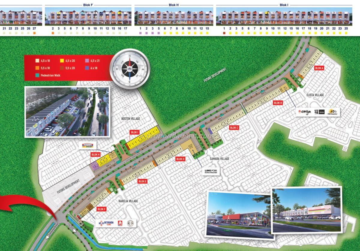Siteplan Ruko Aniva Junction