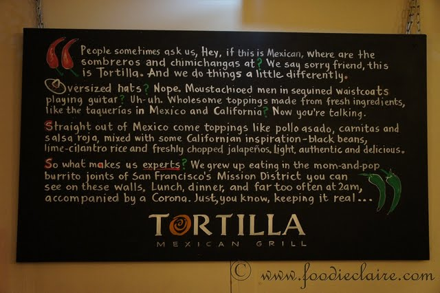 Tortilla Mexican Grill mission statement