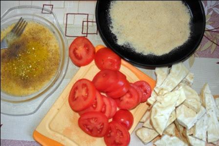 Smazony seler z pomidorami
