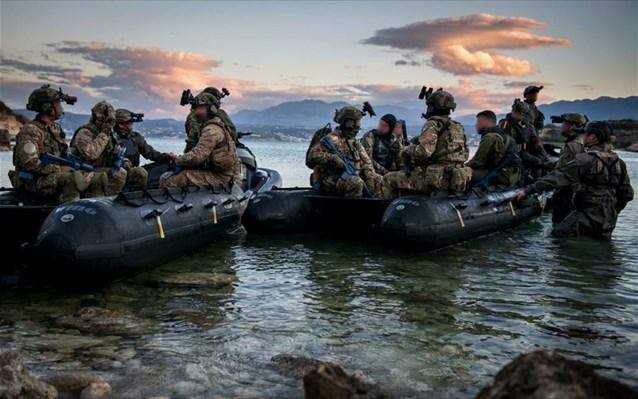 Συνεκπαίδευση Δυνάμεων Ειδικών Επιχειρήσεων Ελλάδας-Κύπρου-ΗΠΑ ανοιχτά της Σούδας
