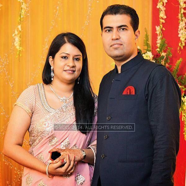 Isha and Ankit Puri during Disha-Anuj Puri's wedding, held in Bhopal