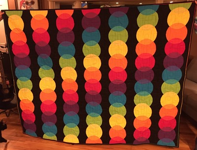 Bright Local Color Quilt by Mary G