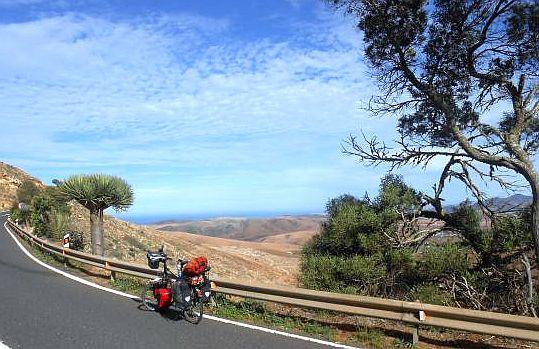 Serpentinenstraße nördlich von Betancuria, Lanzarote