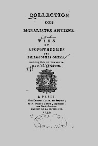 Cover of Paracelsus's Book Collection des Moralistes Anciens (in French)