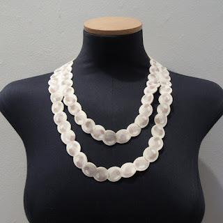 "Moschino Neoprene ""Pearl"" Necklace"