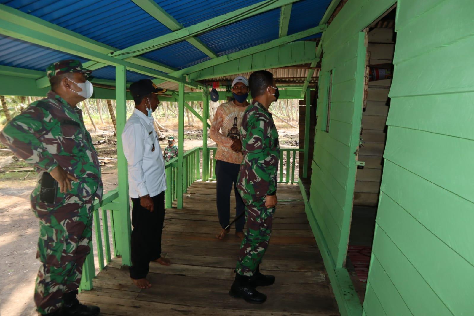 Dandim 0314 Inhil Tinjau Bedah Rumah di Dua Kecamatan