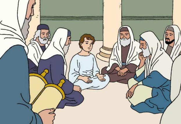 Dibujos de Jesús en el Templo para colorear - Imagui