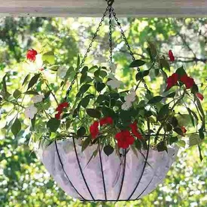 Make you own hanging basket liner