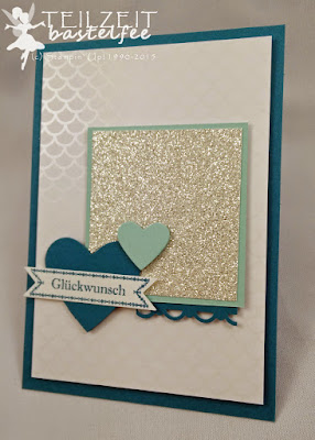 Stampin' Up! - In{k}spire_me #199, Sketch Challenge, Hochzeit, Wedding, Heart Collection, Framelits Herzen, Häkelbordüre, Famose Fähnchen, Bitty Banners, DP Zauberhaft, SAB