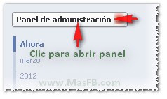 Panel Admin Páginas Facebook