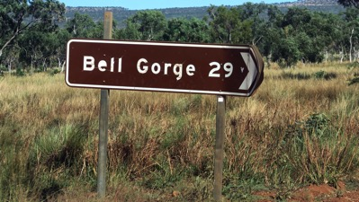 Bell Gorge Sign