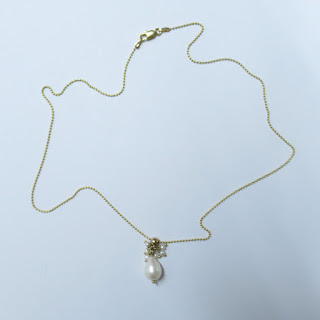 14K Gold and Pearl Pendant Necklace