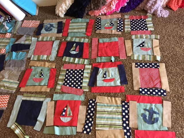 Nautical rag quilt for crib bed a vision to remember all things