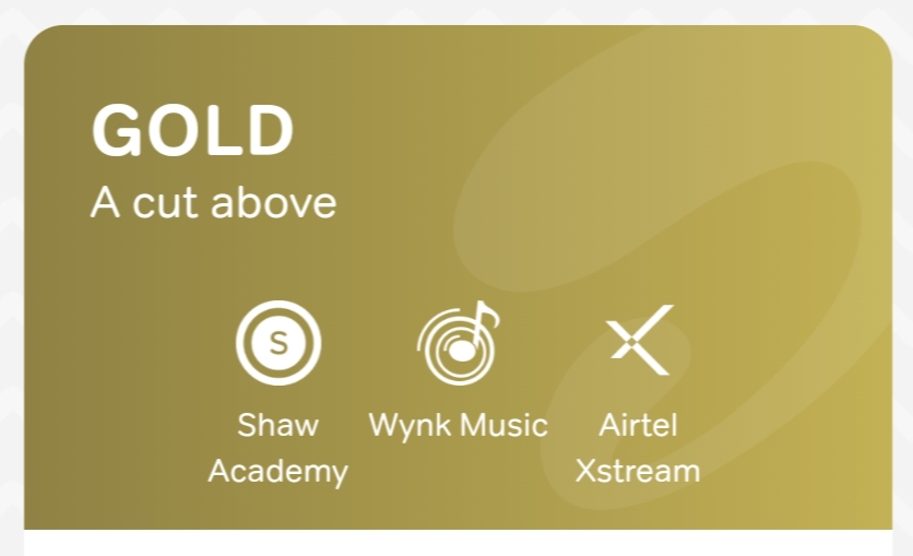 airtel thanks gold