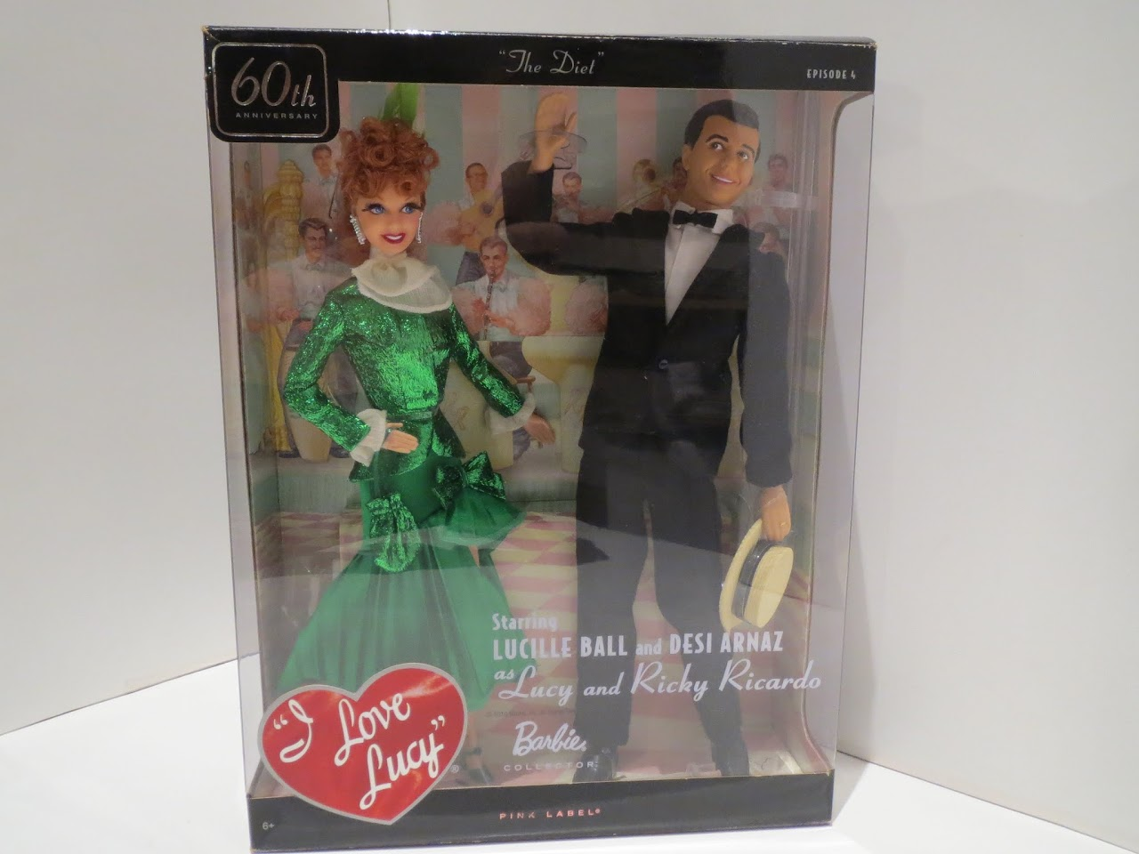 """""""I Love Lucy - The Diet"""" Lucy and Ricky Barbie Set"""