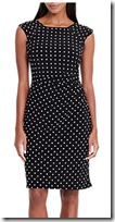 Lauren Ralph Lauren Polka Dot Jersey Dress