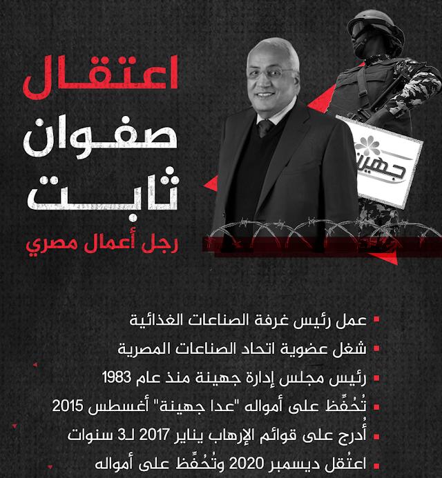القضاء على المتبقى من جهينة و اعتقال صاحبها صفوت ثابت ومصادرة أمواله
