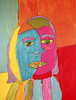 Tribute to Picasso Self-portrait by Julia