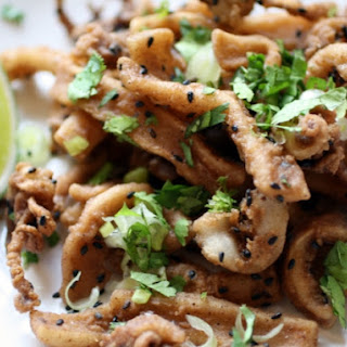 Five-Spice Fried Calamari with Sesame and Lime.