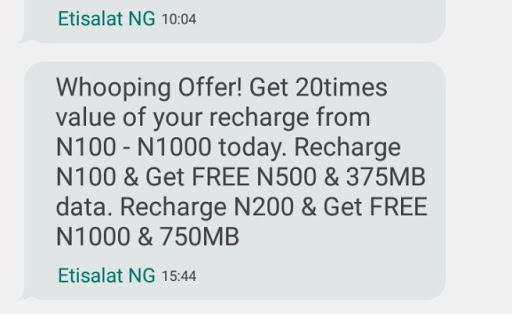 9mobile 20x Bonus offer: Get Free Data of 750MB and ₦1000 Airtime with just N200