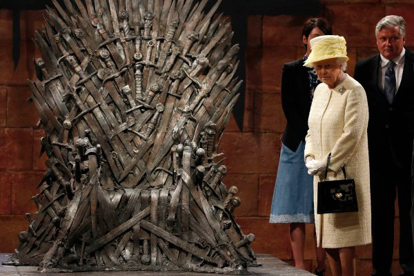 Queen Elizabeth II can't sit on the Iron Throne from Game of Thrones.