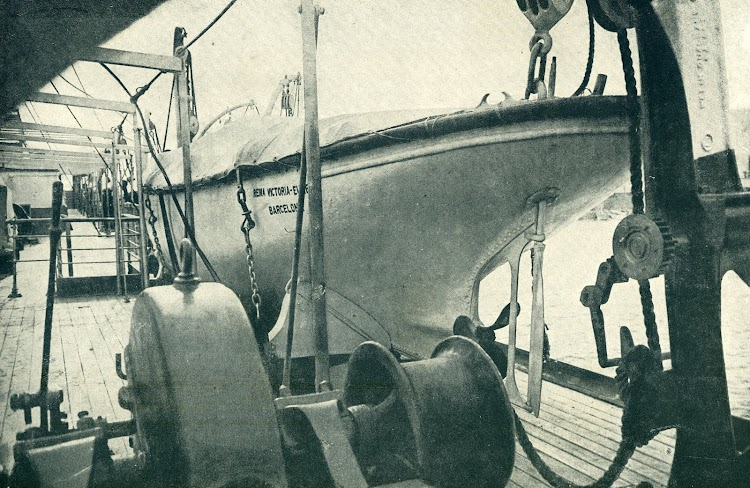 20-Cubierta de botes del REINA VICTORIA EUGENIA. Del Libro de Información al Pasajero. Año 1919. Compañía Trasatlántica.JPG