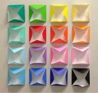 cara mudah membuat hiasan dinding berbahan kertas karton origami