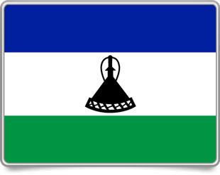 Basotho framed flag icons with box shadow