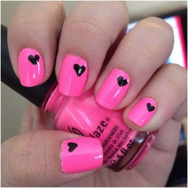Beautiful Pink And Black Nail Art Styles Art