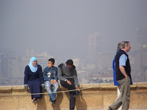 Photo: Downtown Cairo from our vantage point (I can't remember the name of where we were).