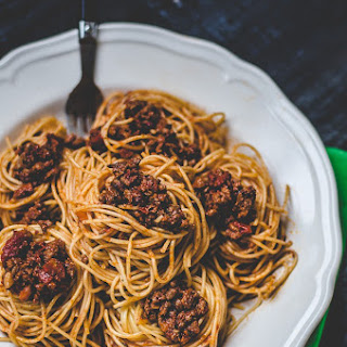 Dad's Spaghetti with Meat Sauce.