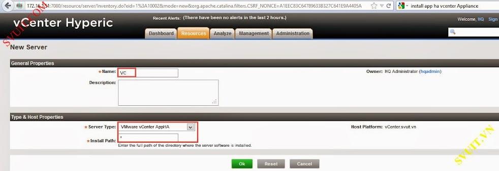 Configure vSphere vCenter Hyperic (7)