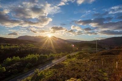 Sunrise near Lochinver