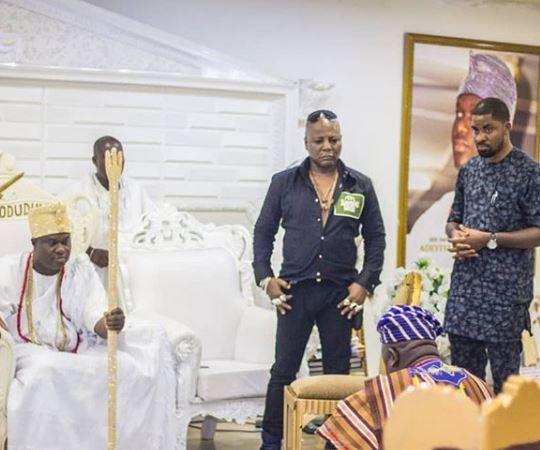 Osun 2019: Charly Boy And Deji Adeyanju Visit Ooni Of Ife (Photos)