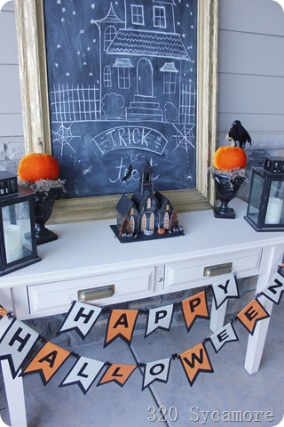 halloween entry table