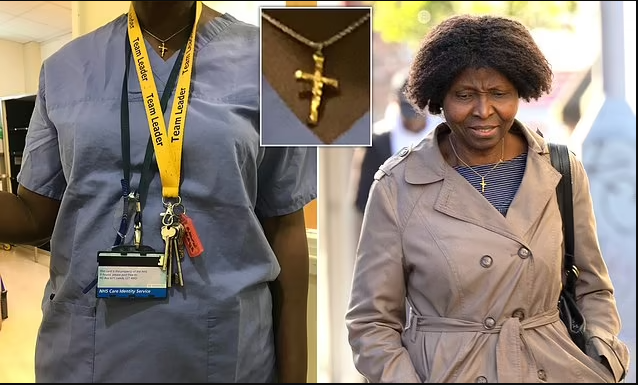 Black Nurse sues UK hospital over claims she was bullied out of her job and treated like a criminal for wearing cross around her neck