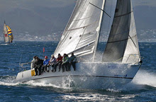 J/105 sailboat- sailing off Cape Town, South Africa