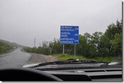 1 depart de mourmansk par la E105