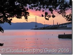 Croatia Camping Guide Ostro Sunset
