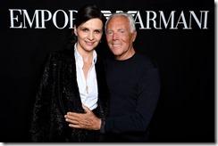 Giorgio Armani e Juliette Binoche - SGP
