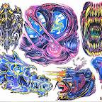 set - Aliens Tattoos Designs