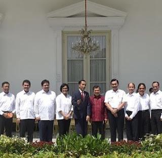 daftar menteri baru hasil reshuffle kabinet kerja jilid 2 jokowi jk