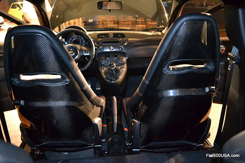 Fiat 500 Abarth carbon fiber Sabelt seats - us500abarth.com