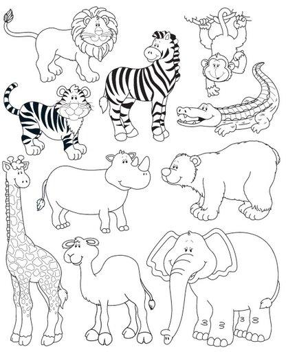 Dibujos De Safari Para Colorear