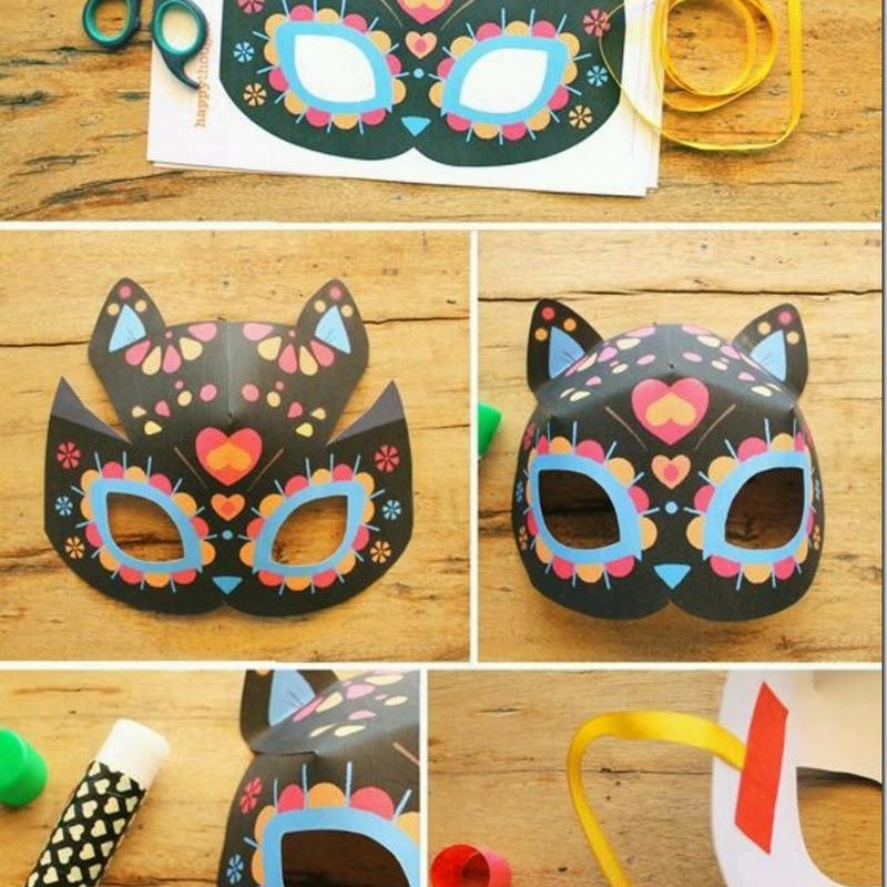Manualidades máscara gato